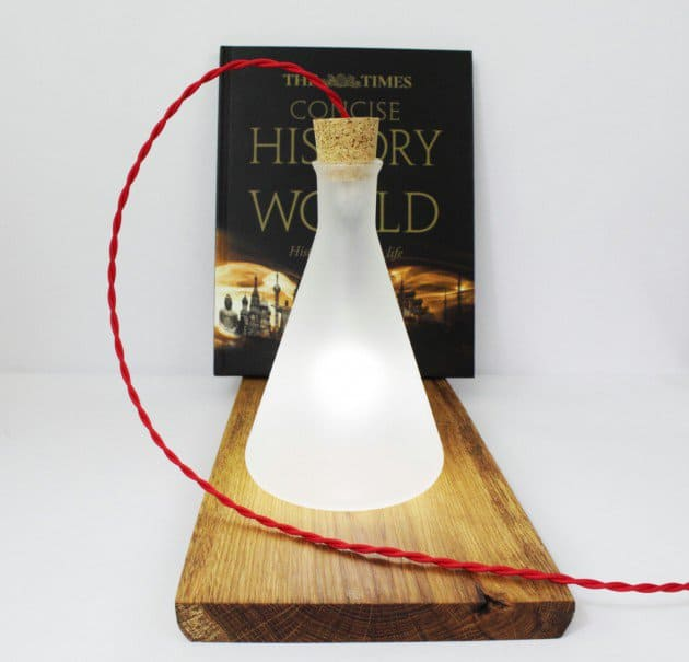 #15 create a mysterious industrial glass table lamp