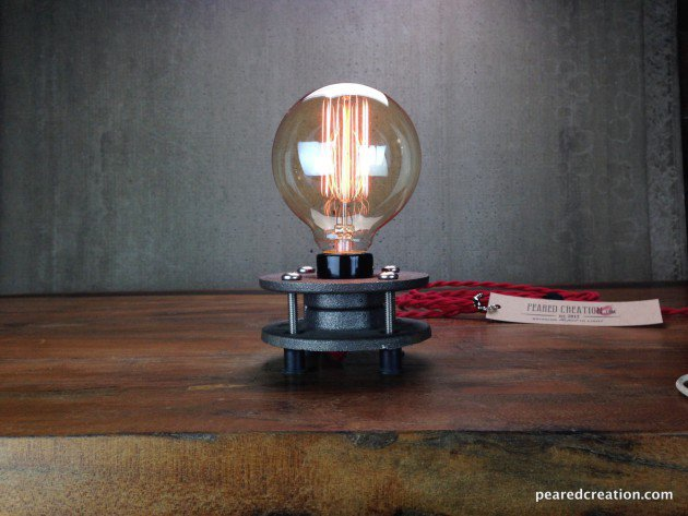 #6 create a table lamp from industrial elements