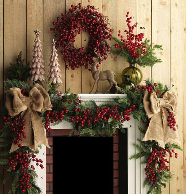 20 mantel christmas decorating ideas to make your home more festive this holiday 20 - Fireplace Mantel Christmas Decor