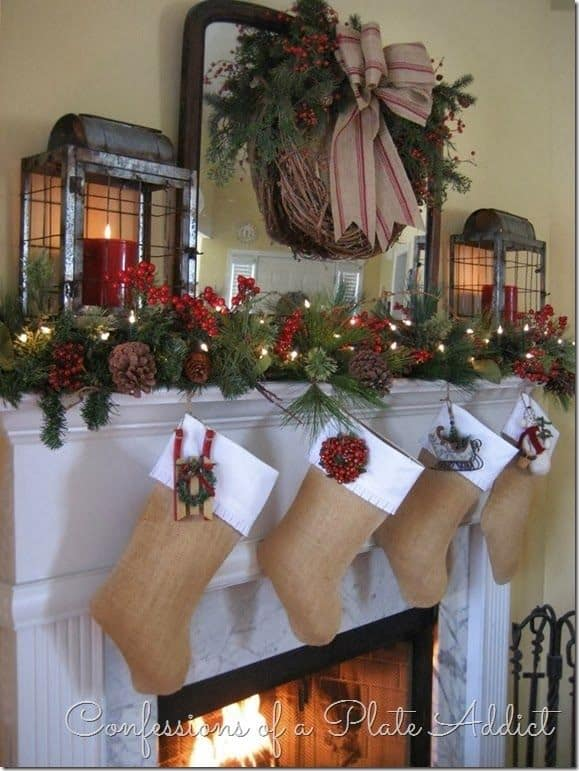 20 Mantel Christmas Decorating Ideas To Make Your Home More Festive This  Holiday (3)
