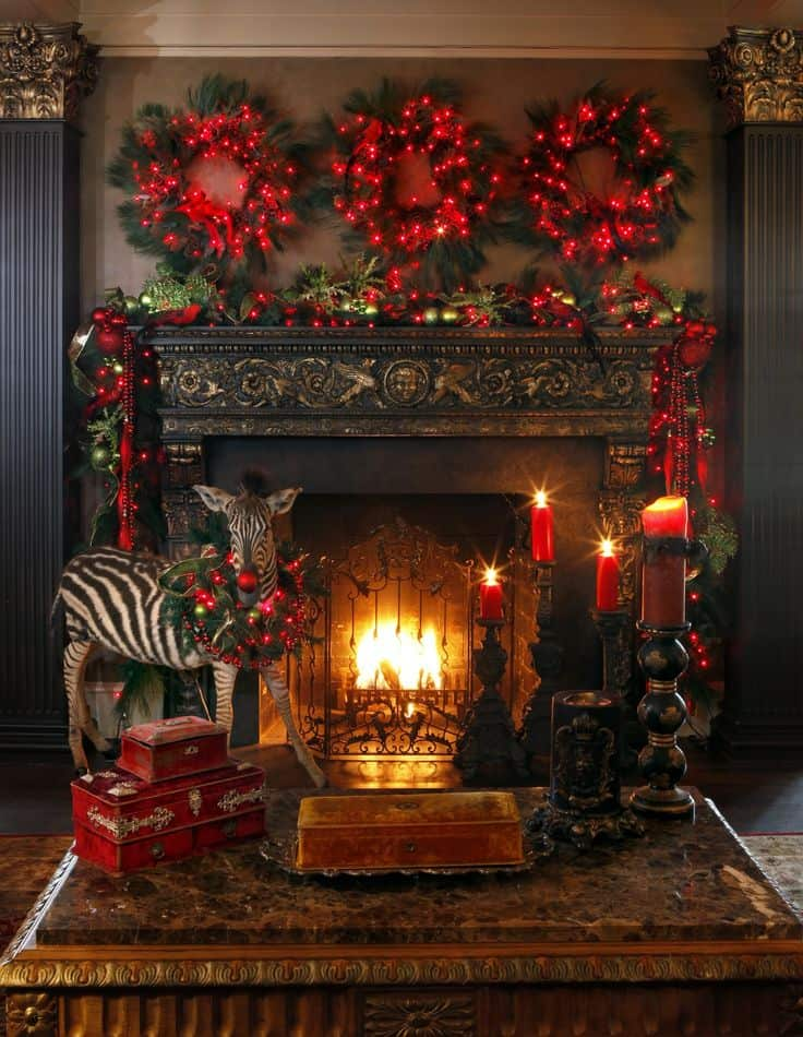 20 mantel christmas decorating ideas to make your home more festive this holiday 5 - Images Of Fireplace Mantels Decorated For Christmas