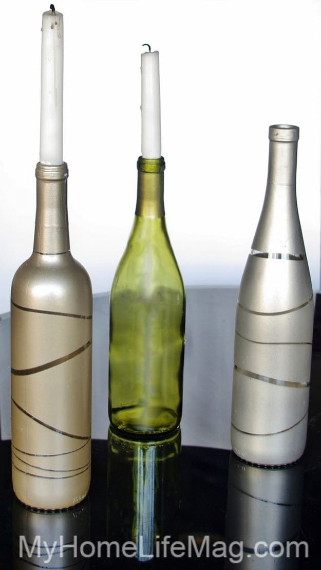 21 Smart DIY Wine Bottle Crafts That Will Beautify Your Household homesthetics decor (13)