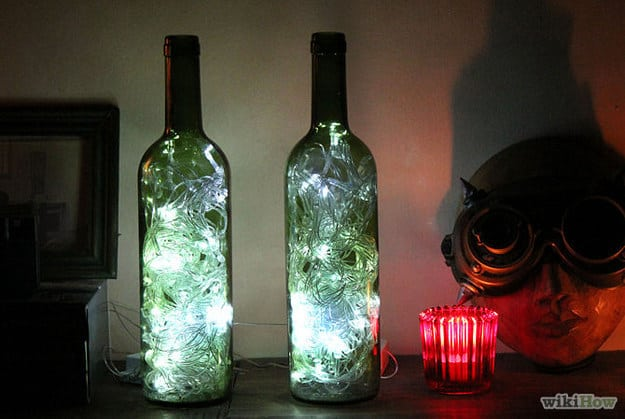 21 Smart DIY Wine Bottle Crafts That Will Beautify Your Household homesthetics decor (17)