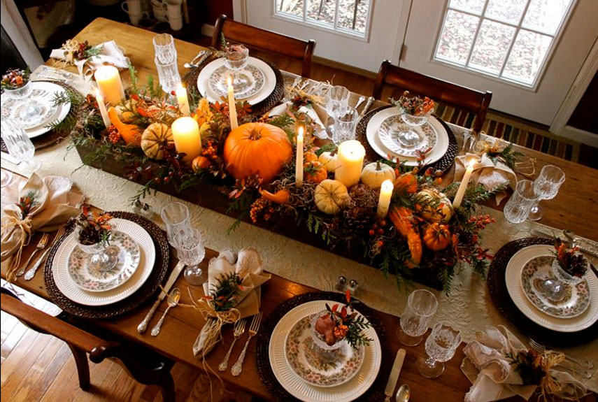 23 Insanely Beautiful Thanksgiving Centerpieces And Table Settings Homesthetics Decor Ideas 19