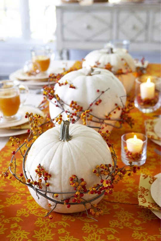23+ Insanely Beautiful Thanksgiving Centerpieces and Table Settings homesthetics decor ideas (3)