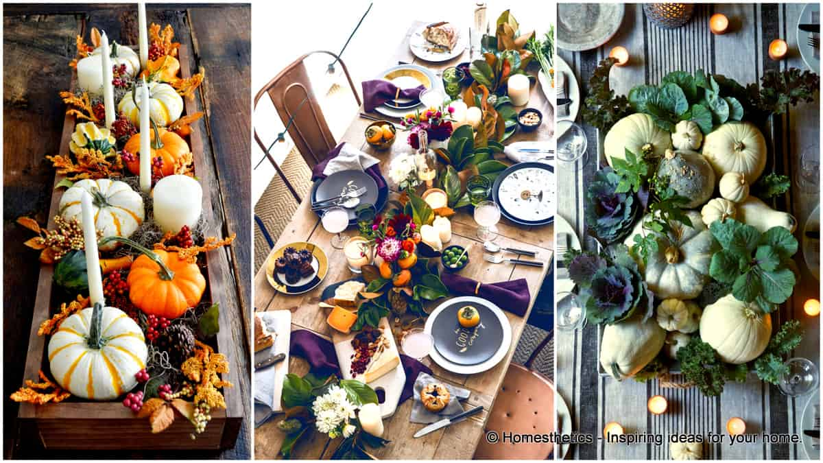 & 23+ Insanely Beautiful Thanksgiving Centerpieces and Table Settings