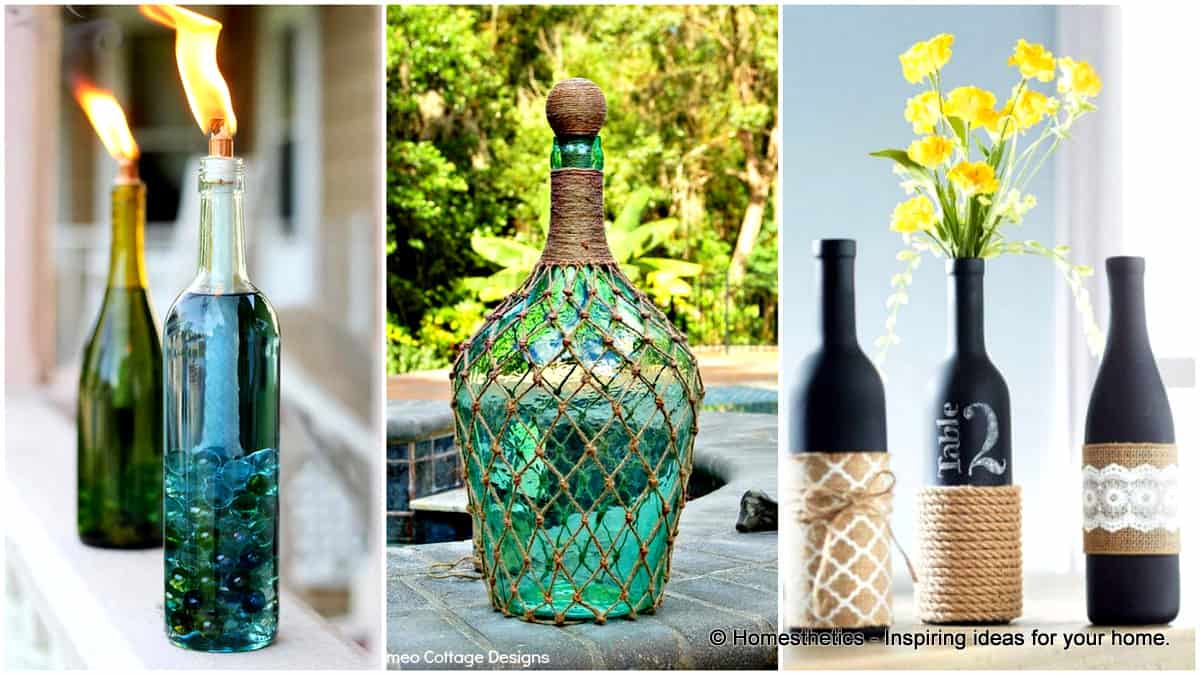 23 Simply Breathtakingly Ingenious Wine Bottle Crafts For Magical ...