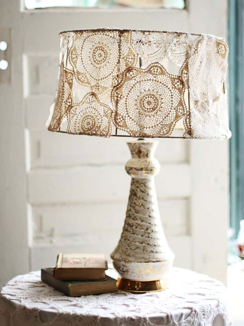 #7 beautify through sensibility by using doily on the lamp