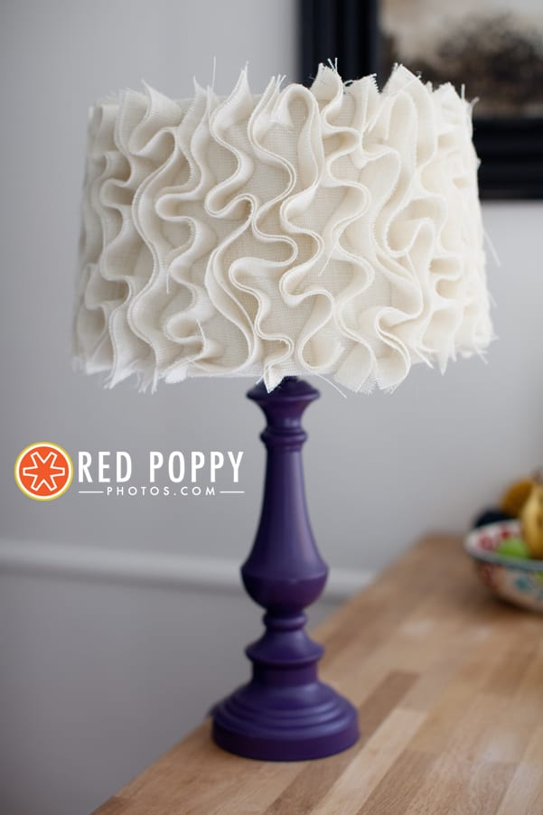 #9 add ruffles to a textile lampshade