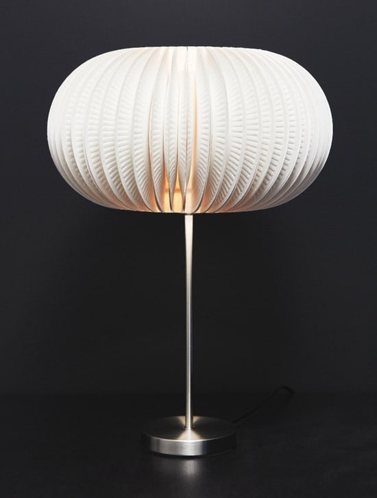 #12 use paper plates to create a sculptural lampshade