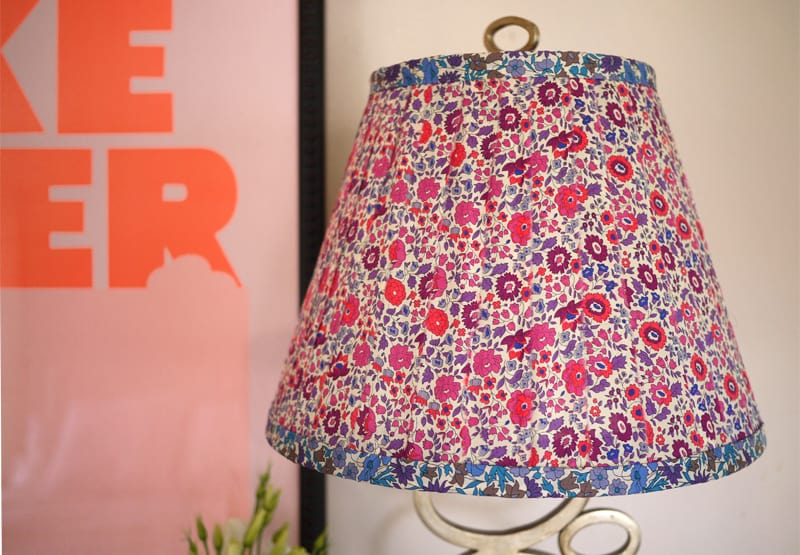 #10 update your lampshade with floral fabric