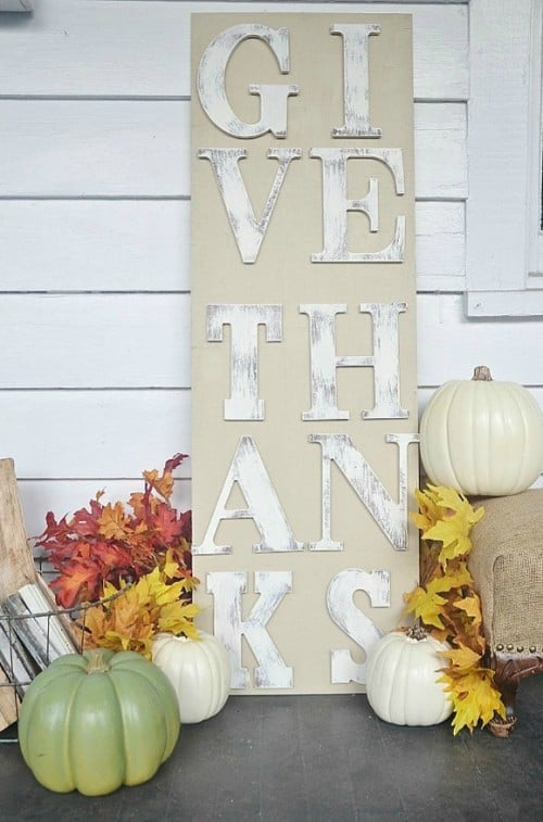 24 Smart Thanksgiving DIY Door Art and Wall Art That Will Greet Your Guests homesthetics fall decor (1)