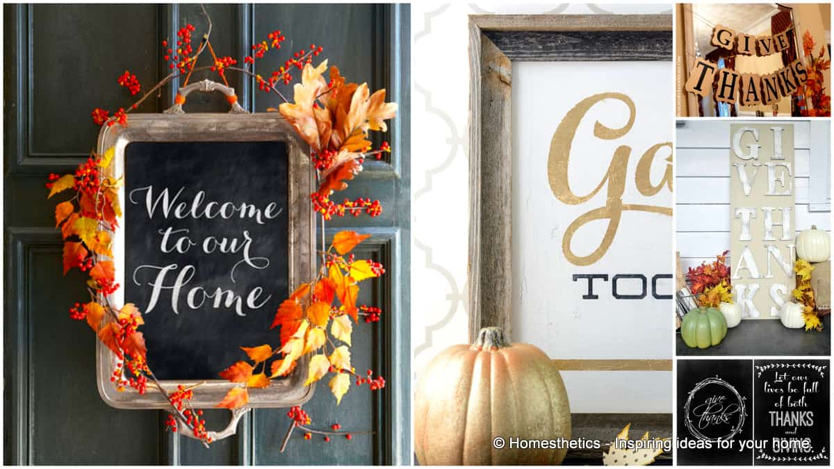 24 Smart Thanksgiving DIY Door Art and Wall Art That Will Greet Your Guests