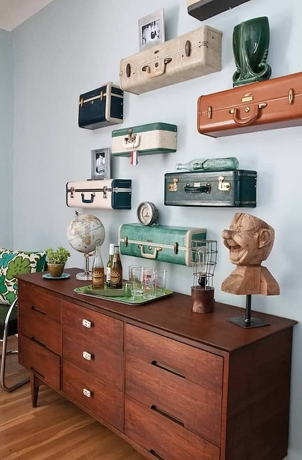25 Beautifully Creative Ways to Recycle Vintage Suitcases at Home homesthetics decor (19)