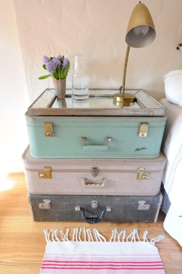 25 Beautifully Creative Ways to Recycle Vintage Suitcases at Home homesthetics decor (20)
