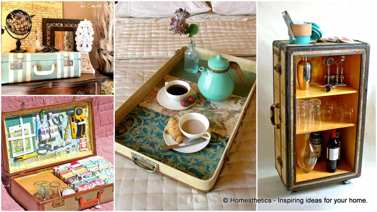 25 beautifully creative ways to recycle vintage suitcases
