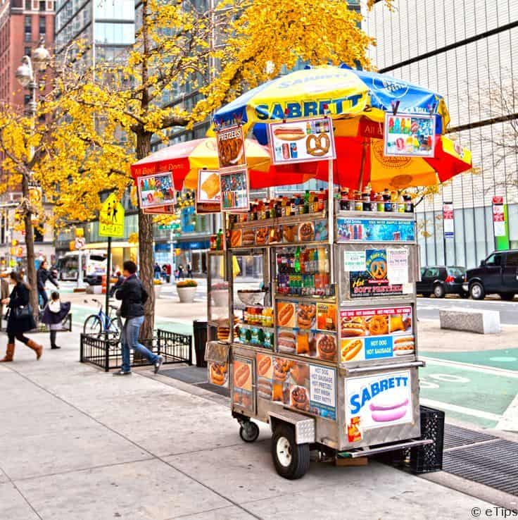 #19 A lot of food carts can been seen regularly along the streets of New York