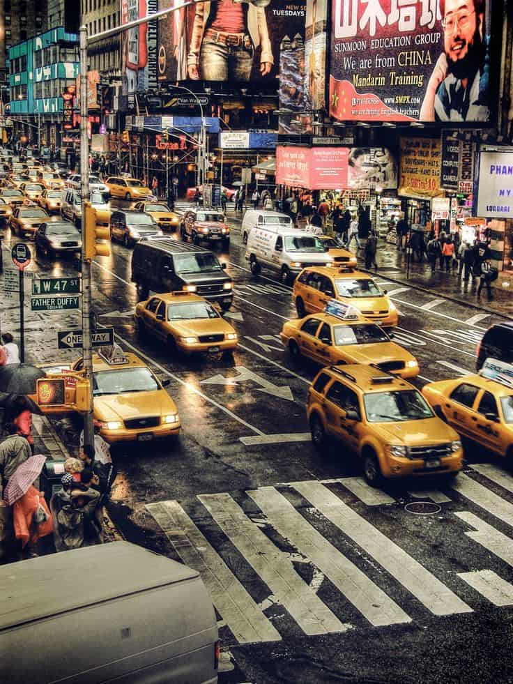 #20 New York has an extensive taxi cab system which meets the transportation needs of its people and keeps the streets busy