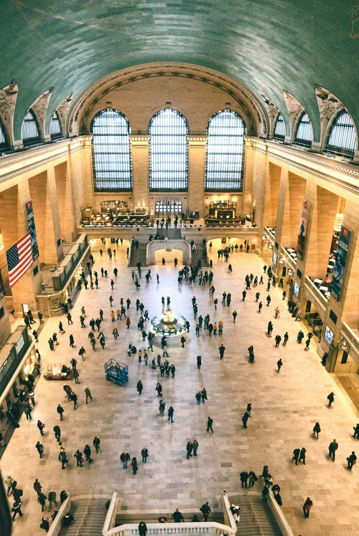 #24 New York City's Grand Central terminal during one of its not so busy hours