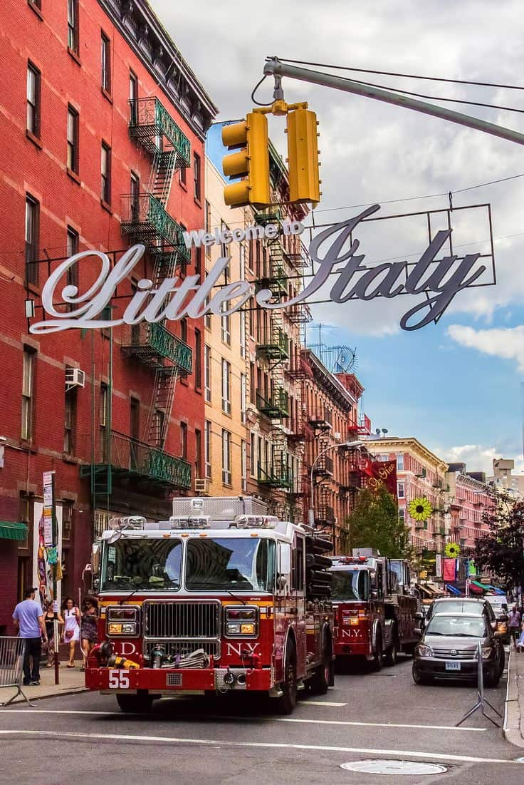 #25 Little Italy is a fairly populated neighborhood of Italians located in lower Manhattan