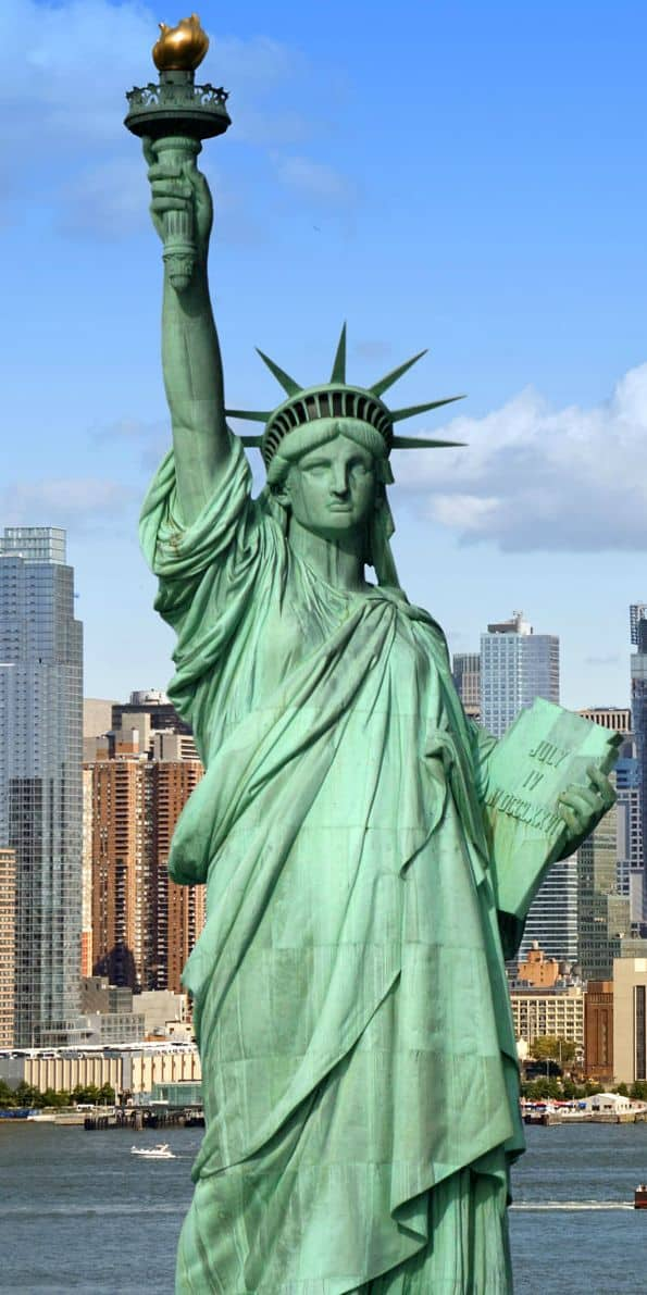 #6 The statue of liberty is a colossal structure located on liberty island in the New York harbor