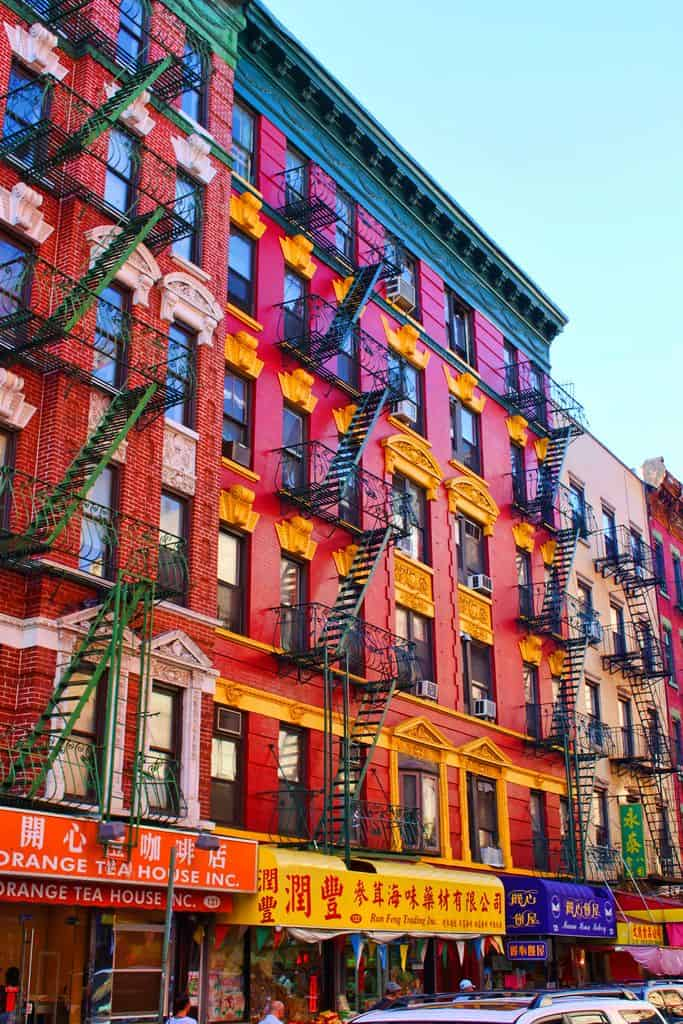 #8 This colorful building in Chinatown is located in Manhattan New York