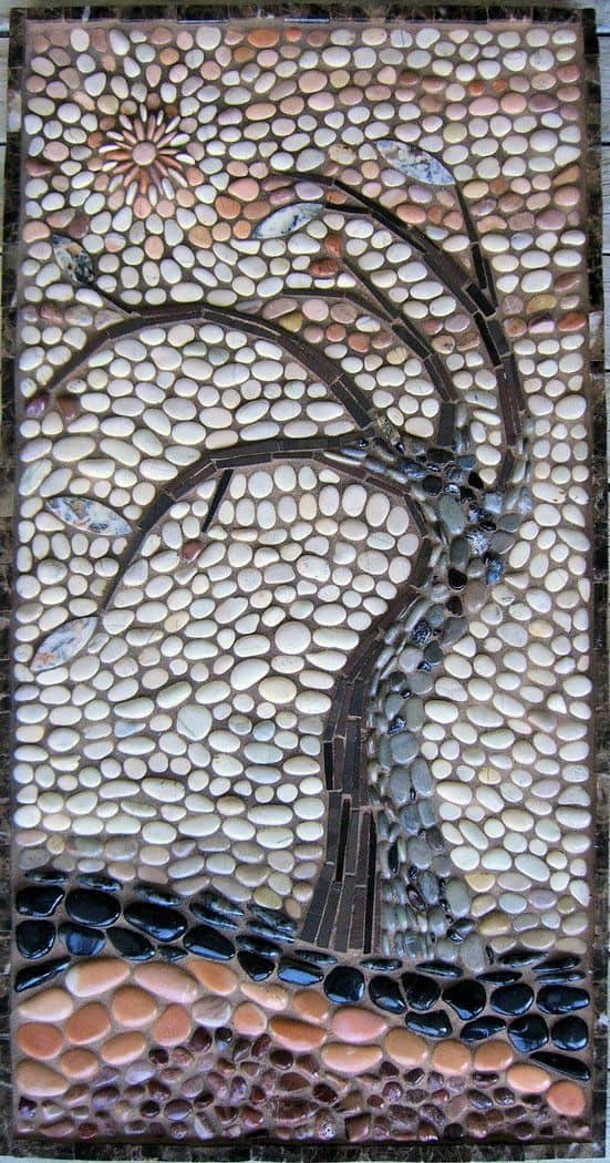 30 Garden Pathway Pebble Mosaic Ideas For Your Home Surroundings (29)