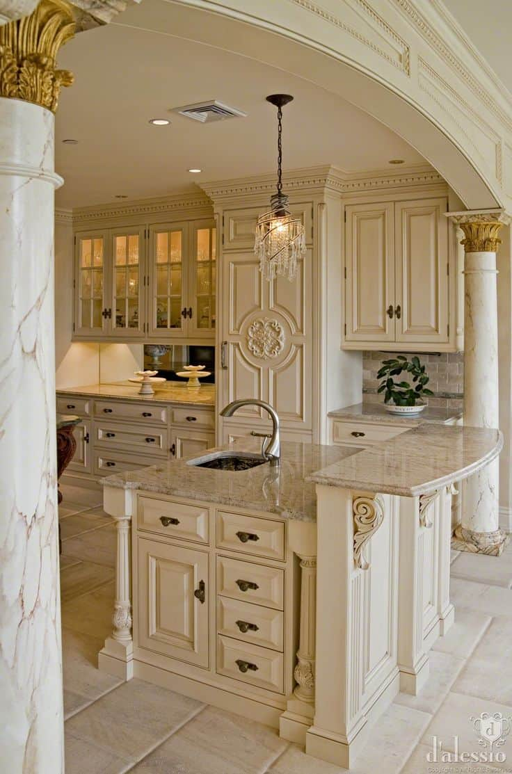 30 Gorgeous Kitchen Cabinets For An Elegant Interior Decor Part 2 Glass Cabinets (1)