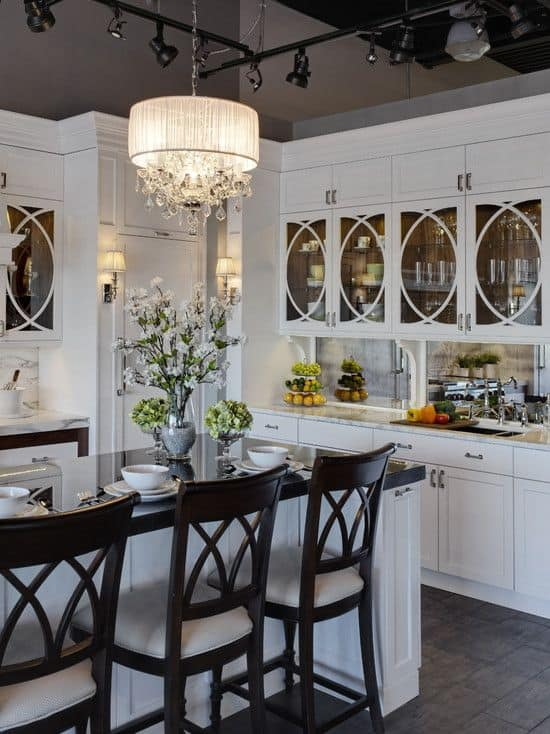 Inspirational  Gorgeous Kitchen Cabinets For An Elegant Interior Decor Part Glass Cabinets
