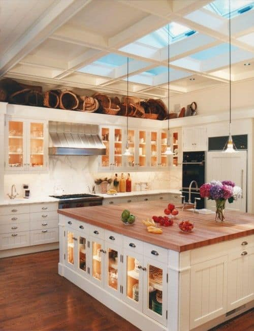 Lovely  Gorgeous Kitchen Cabinets For An Elegant Interior Decor Part Glass Cabinets