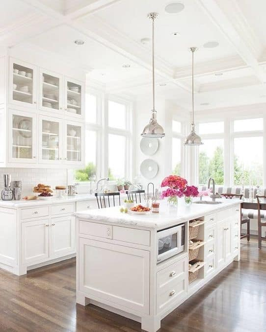 30 Gorgeous Kitchen Cabinets For An Elegant Interior Decor Part 2 Glass Cabinets (2)