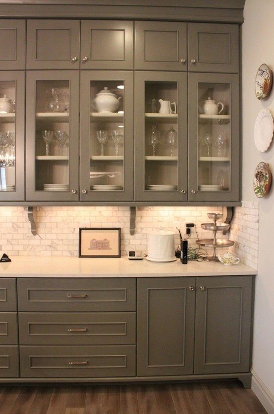 Vintage  Gorgeous Kitchen Cabinets For An Elegant Interior Decor Part Glass Cabinets