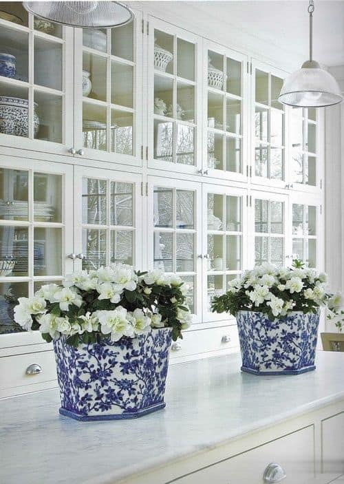Nice  Gorgeous Kitchen Cabinets For An Elegant Interior Decor Part Glass Cabinets