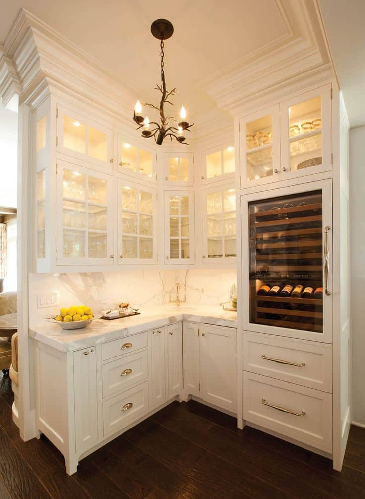 Amazing 30 Gorgeous Kitchen Cabinets For An Elegant Interior Decor Part 2 Glass  Cabinets (28)