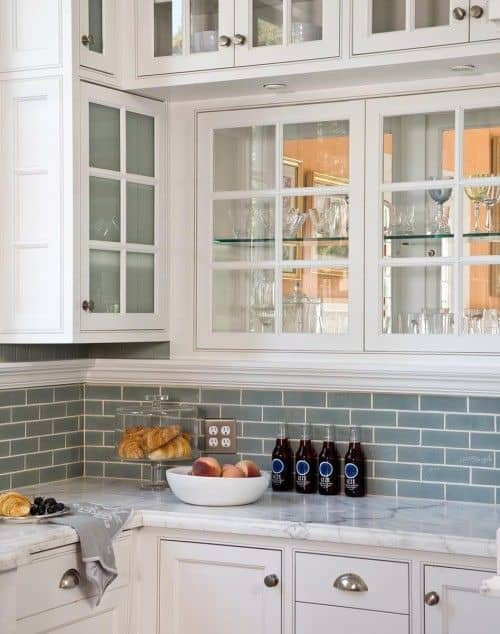 Beautiful  Gorgeous Kitchen Cabinets For An Elegant Interior Decor Part Glass Cabinets