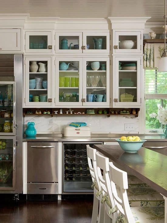 30 Gorgeous Kitchen Cabinets For An Elegant Interior Decor Part 2 Glass  Cabinets (5)