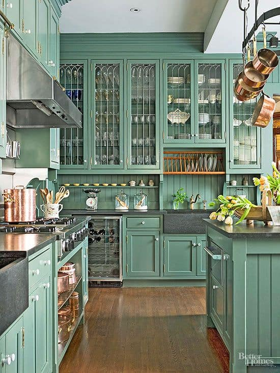 30 Gorgeous Kitchen Cabinets For An Elegant Interior Decor Part 2 Glass Cabinets (6)