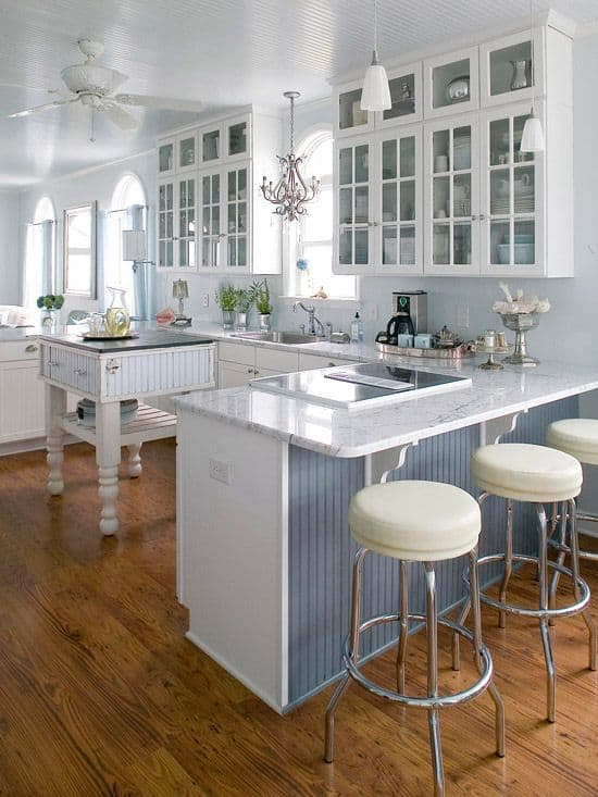 Great  Gorgeous Kitchen Cabinets For An Elegant Interior Decor Part Glass Cabinets