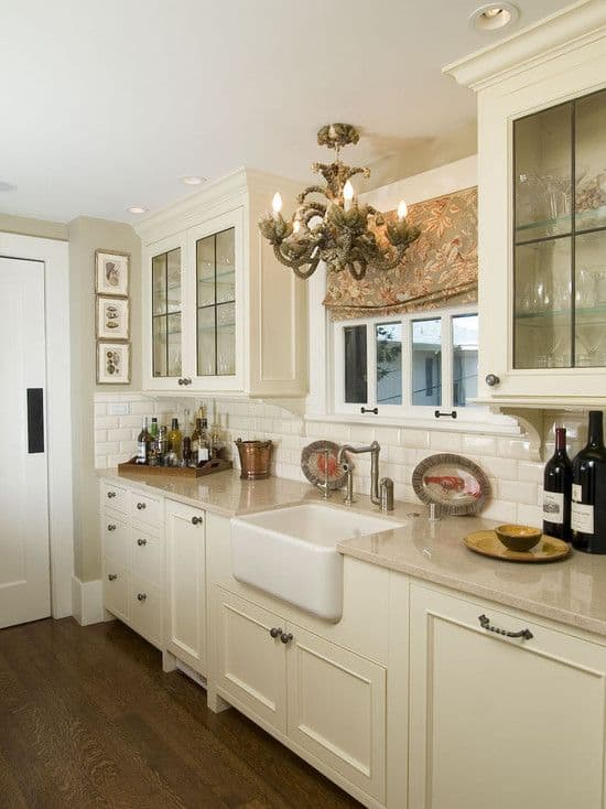 Marvelous  Gorgeous Kitchen Cabinets For An Elegant Interior Decor Part Glass Cabinets