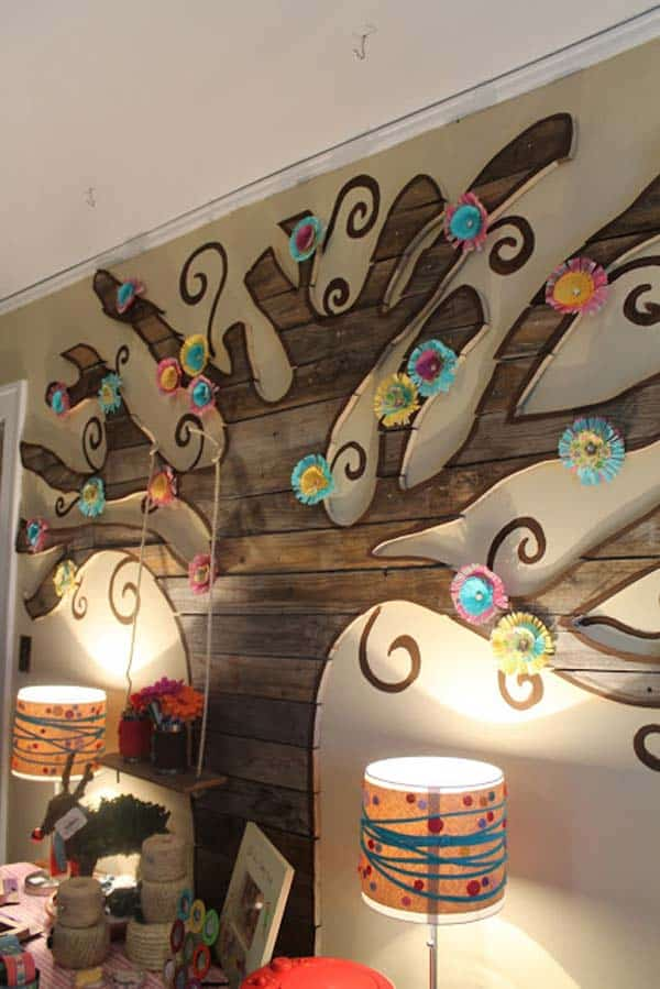 #14 SALVAGED WOOD TREE DESIGN BLOSSOMED THANKS TO CREATIVITY