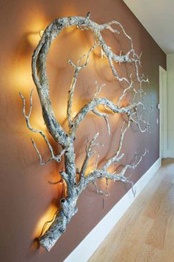 30 ingenious wall tree decorations to beautify your home 2 decorate with beautiful sculpting branches aloadofball Image collections