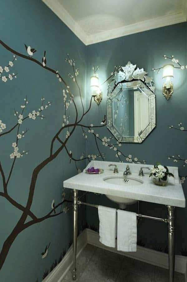 #4 JAPANESE INSPIRED TREES BEAUTIFYING A BATHROOM
