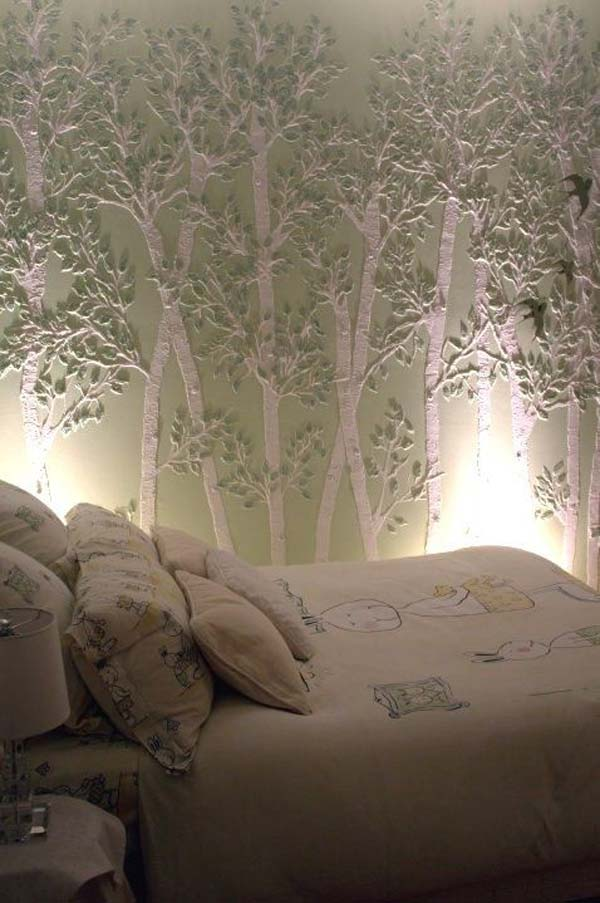 30 Ingenious Wall Tree Decorations To Beautify Your Home