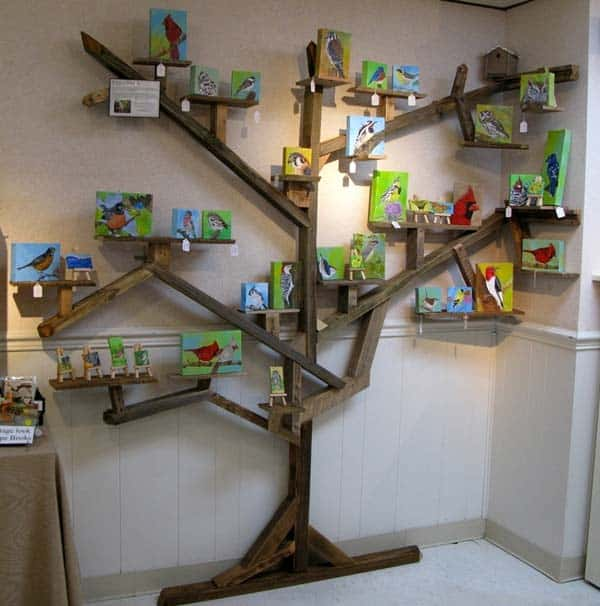 6 Ideas On How To Display Your Home Accessories: 30 Ingenious Wall Tree Decorations To Beautify Your Home