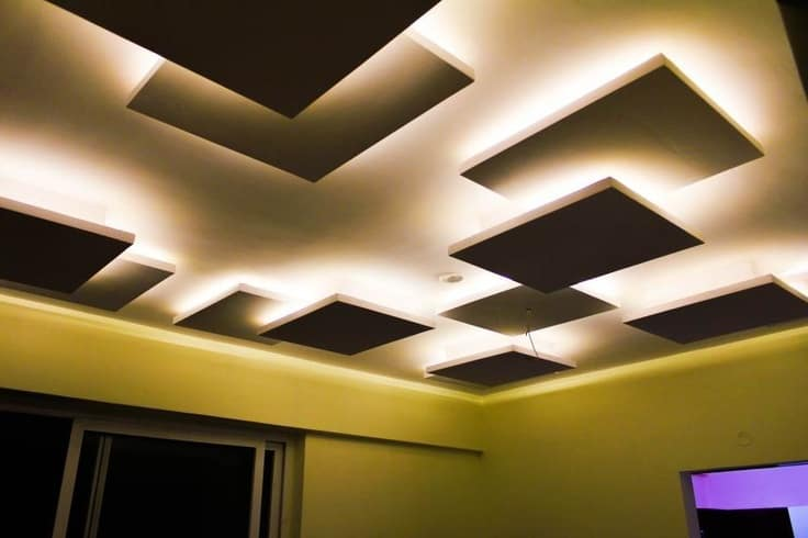 #2 SQUARE PATTERN DESIGN FALL CEILING