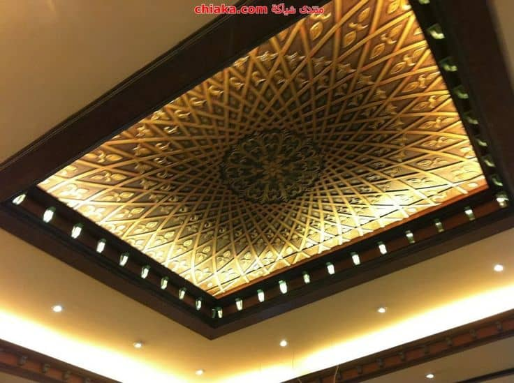 #13 BROWN WOODEN SQUARE FALL CEILING