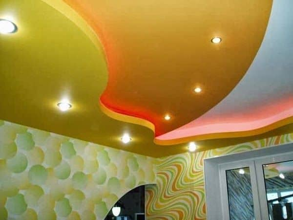#3 FALSE CEILING DESIGN WITH MULTILEVEL STRUCTURE AND CREATIVE LIGHTING