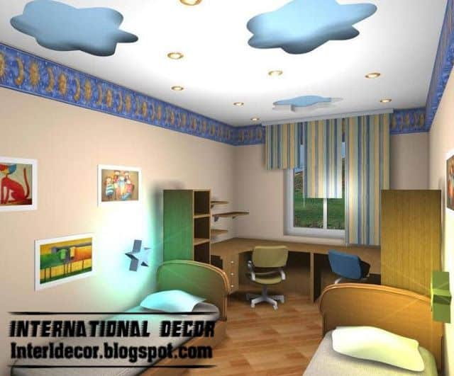#21 BLUE CLOUDS DESIGNED USING GYPSUM FALSE CEILING