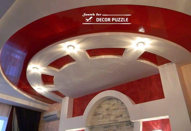 #22 RED AND WHITE  CEILING WITH DRYWALL