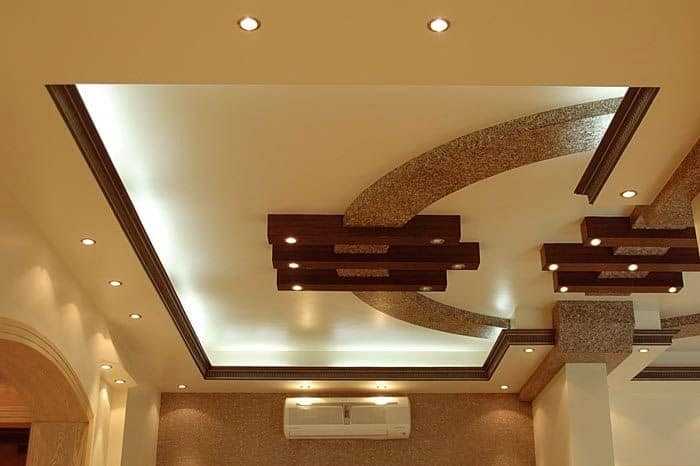 #27 WOODEN FALSE CEILING DECOR